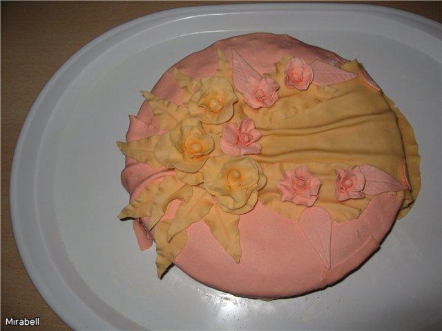 украшение тортов мастикой пошагово.
